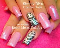 robin moses nail art spring flower nail art design hace perfect