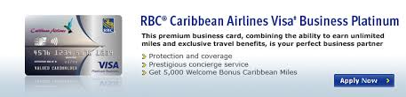 Visa Business Card Trinidad And Tobago Rbc Caribbean Airlines Visa Business Platinum