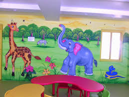 play wall painting 3d wall painting cartoon painting