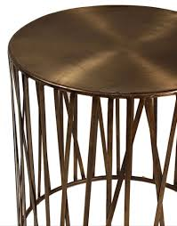 Outdoor Metal Side Table Westin Round Side Table In Vintage Brass Finish U2013 Mortise U0026 Tenon
