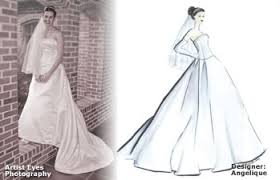 my sketching wedding gown