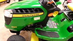 walkaround of a new john deere d105 lawn tractor youtube