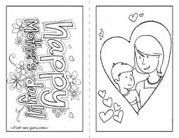 Color For Happy Free Happy Mothers Day Cards To Print And Color For Kids Printable