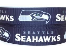 seahawk ribbon seattle seahawks etsy
