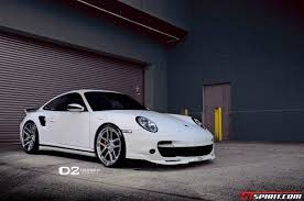 porsche turbo wheels white porsche 997 turbo lowered on d2forged wheels gtspirit