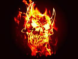 halloween skull background fire skull backgrounds wallpaper wallpaper hd background desktop