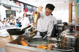 chef of cuisine chefs compete for gold in times square culinary