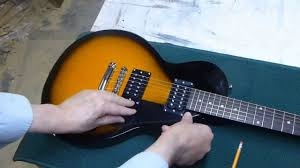 epiphone les paul special 2 pick guard install youtube