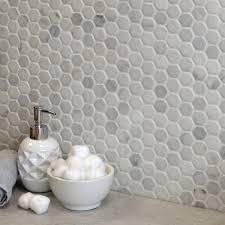 blanco marble hexagon tiles oriental marble mosaics tiles