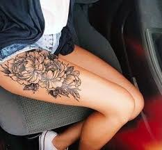 flowers thigh 65 shared by amazingtattoo