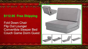 fold down chair flip out lounger convertible sleeper bed costway