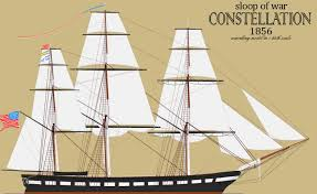 Radio Controlled Model Boat Plans Constellation An 1854 Sloop Of War In 1 36 Scale