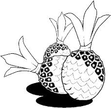 tropical beach coloring pages three rounded tropical pineapple coloring page three rounded