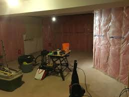 Basement Renovation Renovation Of Basement With Batt Insulation And Poly Worth It To