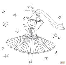 pinkalicious with pink cupcakes coloring page free printable