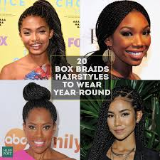 braided hair styles for a rounded face type 20 badass box braids hairstyles that you can wear year round huffpost