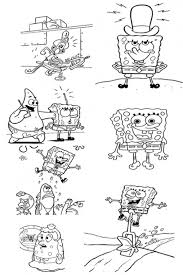 spongebob rules the world spongebob coloring pages