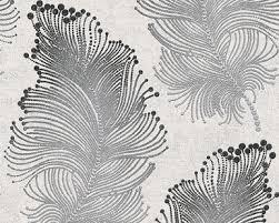 bohemian feather black wallpaper as creation wallpaper