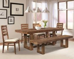 dining room sets solid wood dining tables modern wooden dining chairs with black leather pad