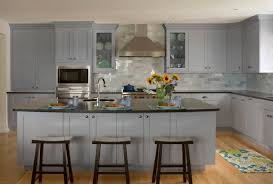 Crystal Kitchen Cabinets by Gray Shaker Cabinet Doors With Gray Kitchen Cabinet Stains From