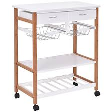 kitchen trolley island amazon com giantex rolling wood kitchen trolley cart island