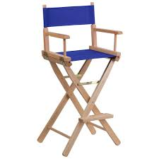 Folding Chairs Home Depot Flash Furniture Bar Height Directors Chair In Blue Tyd01bl The
