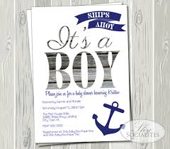 nautical baby shower invitations ships ahoy it s a boy nautical baby shower invitation socialites