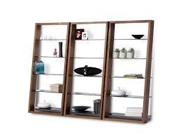 Walnut Bookshelves Eileen Leaning Shelf 5156 Bdi