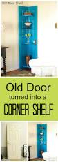 how to make a corner bookcase corner door shelf