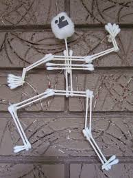 Halloween Skeleton Decoration Ideas How To Make A Skeleton Cotton Swab Halloween Arts U0026 Crafts Project