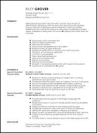 education resume template free professional special education resume template