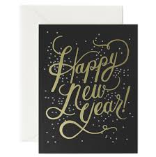 rifle paper co greeting card happy new year