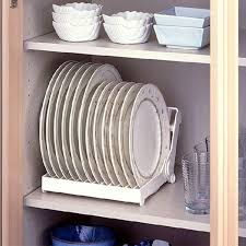 plate organizer for cabinet foldable dish plate drying rack organizer drainer plastic storage