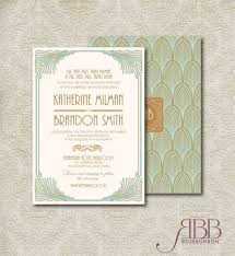 art deco wedding invitations etsy stephenanuno com