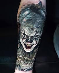 pennywise it movie tattoo best tattoo design ideas halloween