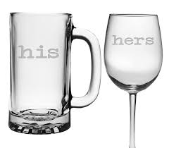 his hers wine glasses his mug and wine glass 16 oz mug