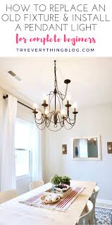 wiring a chandelier how to install a pendant light fixture and swag it try everything
