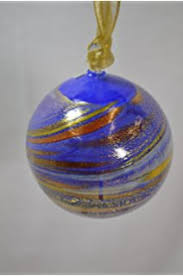 authentic murano glass ornament speckled golden home