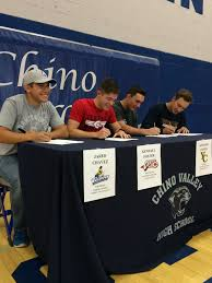 Do Division 3 Schools Sign Letters Of Intent by 4 Chino Valley High Seniors Ink College Letters Of Intent Chino
