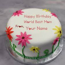 name on birthday cake for mother wishes pictures