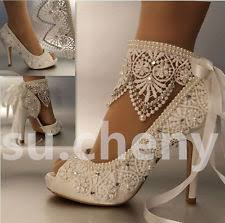 Wedding Shoes Ivory High 3 In And Up Heel Bridal Shoes Ebay