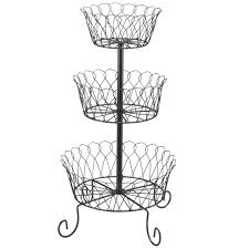 tiered fruit basket black tiered fruit basket 3 tiered fruit basket kimball