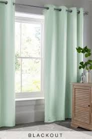 Dusty Blue Curtains Curtains And Blinds Curtains Blue Eyelet Next Usa