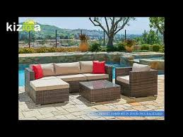 Outdoor Furniture Sectional Sofa Suncrown Outdoor Furniture Sectional Sofa U0026 Chair 6 Piece Set