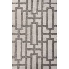 Dylan Rug Jaipur Rugs Modern Geometric Pattern Ivory Gray Wool And Art Silk