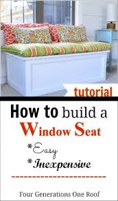 Build A Window Seat - homemade window cleaner 40 diy window storage seats and