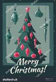 merry tree decorations illustration stock