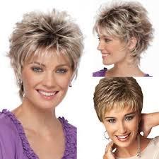short cap like women s haircut women s fashion short haircut shag short curly ombre wig with cap