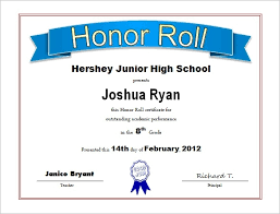 free honor roll certificate template microsoft word