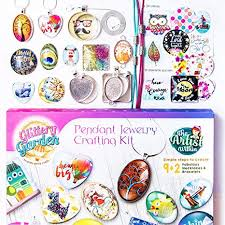 diy glass pendant necklace images Girls jewelry making kit diy necklace pendant and jpg